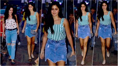 Katrina Kaif's Asymmetrical Denim Skirt on Dinner Date with Family is What You Need This Summer! (See Pics)