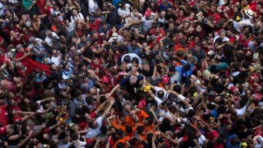 Brazil's Former President Lula da Silva Surrenders; Fireworks, Tears Break Out Across the Nation