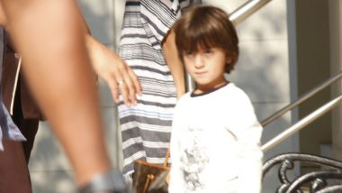 AbRam Shouts 'No Pictures' As He Gets Nervous Upon Seeing Media Frenzy Outside Aaradhya Bachchan's Birthday Bash - Watch Video