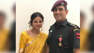 MS Dhoni In-Laws! Sakshi Rawat Shares Her Mom and Dad's Photo on Instagram With Heart Emoji