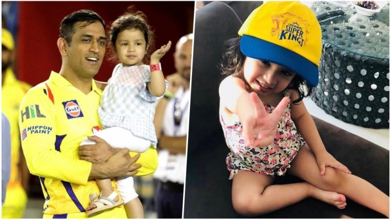 MS Dhoni Posts Video of Daughter Ziva Saying 'Papa Ko Hug Karna Hai' as He Smashed KXIP Bowlers All Around the Park