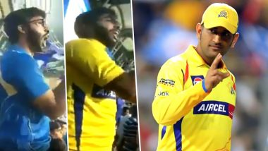 Biggest MS Dhoni Fan Found and It's Not Pakistan's 'Chacha Chicago'! MI Supporter Switches Loyalties, Dons Yellow Jersey Just as CSK Skipper Arrives (Watch Viral Video)