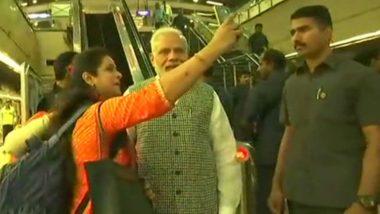 PM Narendra Modi Takes Metro to Inaugurate Dr BR Ambedkar National Memorial in New Delhi