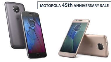 Discounts on Moto G5s Plus, Moto G5, Moto Z2 Play & More under Motorola 45th Anniversary Sale