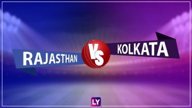 KKR 174/6 in 20 Overs | RR vs KKR Live Score Updates Dream11 IPL 2020: Rajasthan Royals Set 175 Runs to Win