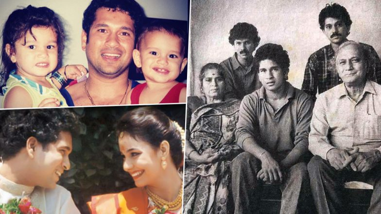 Sachin Tendulkar's Life in Pictures: Unseen Childhood, Teenage and Family Pics to Treasure on God of Cricket's 45th Birthday