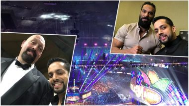 WWE Wrestlemania 34 Gets an Indian Host! Salil Acharya Is Having a Gala Time with WWE Fighters