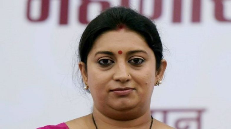 Four students booked for stalking Smriti Irani