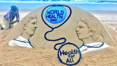 World Health Day 2018: Sudarsan Pattnaik Raises Healthy Awareness With His Beautiful Sand Art