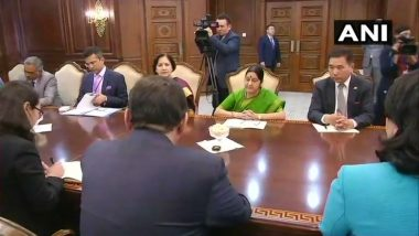 Sushma Swaraj Calls on Mongolian PM, other leaders and Discuss Issues of Bilateral Cooperation