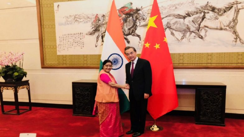 Sushma Swaraj meets Wang Yi, discusses India-China ties