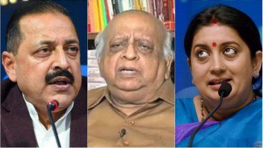 TN Seshan Death Hoax: I&B Minister Smriti Irani & Union MoS Jitendra Singh Fell Victim to Fake News