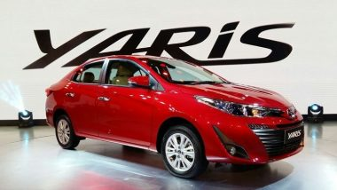 Toyota Yaris 2018 Launched in India with a Starting Price of Rs. 8.75 Lakh; Will Challenge Maruti Ciaz & Honda City