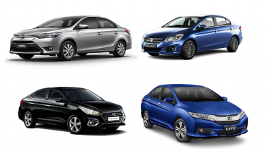 2018 Toyota Yaris Vs Honda City Vs Hyundai Verna Vs Maruti Ciaz: Price, Features, Specifications Comparison