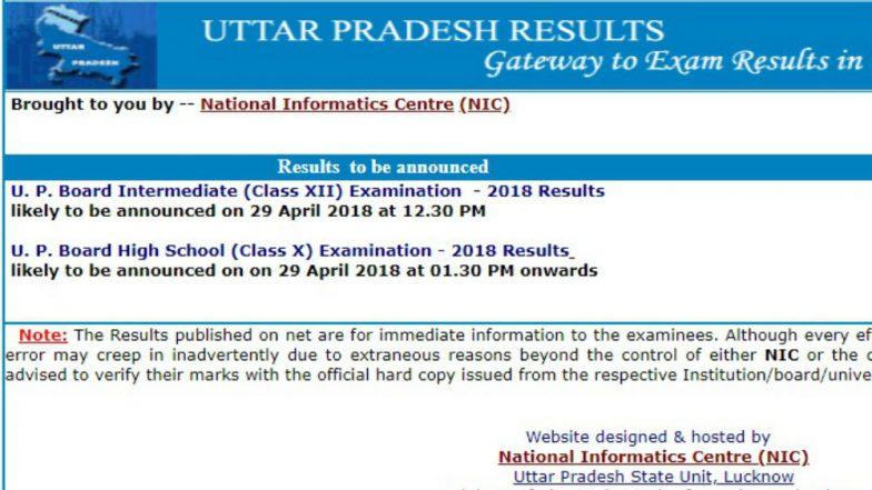 UP Board result 2018: Uttar Pradesh Board Class 10, 12 Results declared