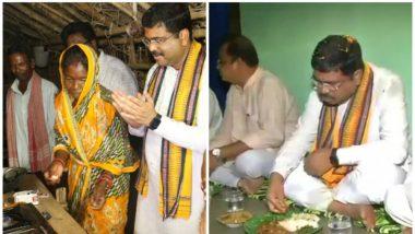 Rashtriya Gram Swaraj Abhiyan: Dharmendra Pradhan Spends Night with Villagers at Haripur Village in Mayurbhanj