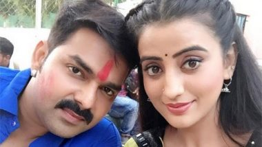 Pawan Singh Thrashes Co-Star Akshara Singh! Bhojpuri Actor Held Her Hair and Slammed the Actress Against the Wall