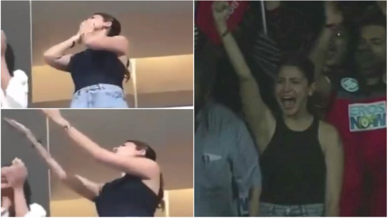 IPL 2018: Anushka Sharma Blows flying Kisses to Hubby Virat Kohli After RCB's win Over KXIP - Watch Video