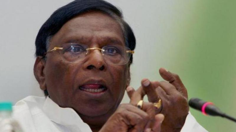 Puducherry CM V Narayanasamy Hits Out at Centre, Says 'Declare Us as Transgenders'; Watch Video