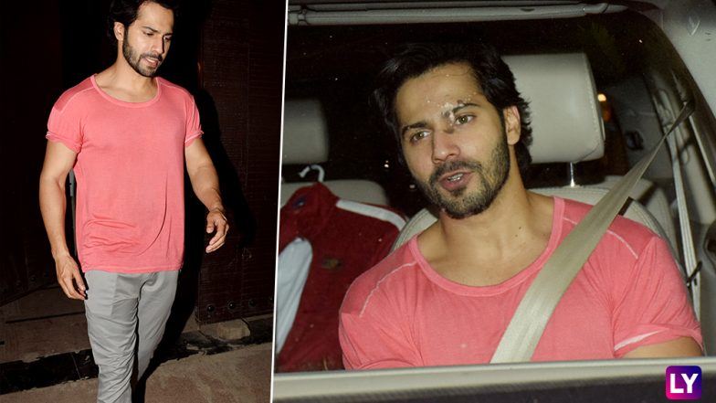 October Dude Varun Dhawan Looks Yummy In Baby Pink View PICS