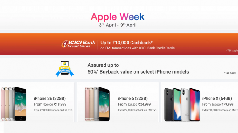 Flipkart Apple Week 2018: Discounts & Offers on iPhone X, iPhone 8, Laptops, iPads & More