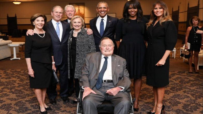A Presidential Sendoff: Four Former U.S. Presidents and Four First Ladies Bid Adieu to Barbara Bush