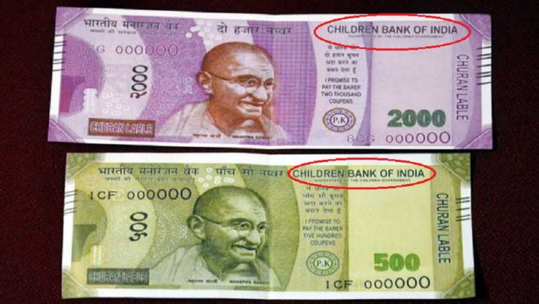Fake Rs 500 Notes of 'Children Bank of India' Dispensed by ATM in UP's Bareilly (Watch Video)