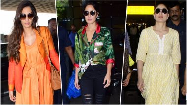Bollywood Airport Spotting: Katrina Kaif to Kareena Kapoor Khan, Celebs Who Rocked the Easy-Breezy Summer Airport Looks This Week