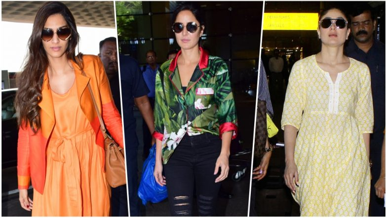 6340d0acb8fe Bollywood Airport Spotting  Katrina Kaif to Kareena Kapoor Khan ...