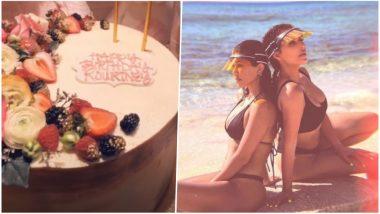 Kourtney Kardashian's 39th Birthday Cake Pics: Kim Throws Her Sister an Early Birthday Party, Shows Off as Instagram Video