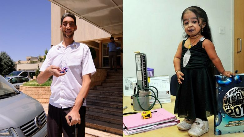 World's Tallest Man and the World's Shortest Woman Come Together in Egypt for an Unusual Reason