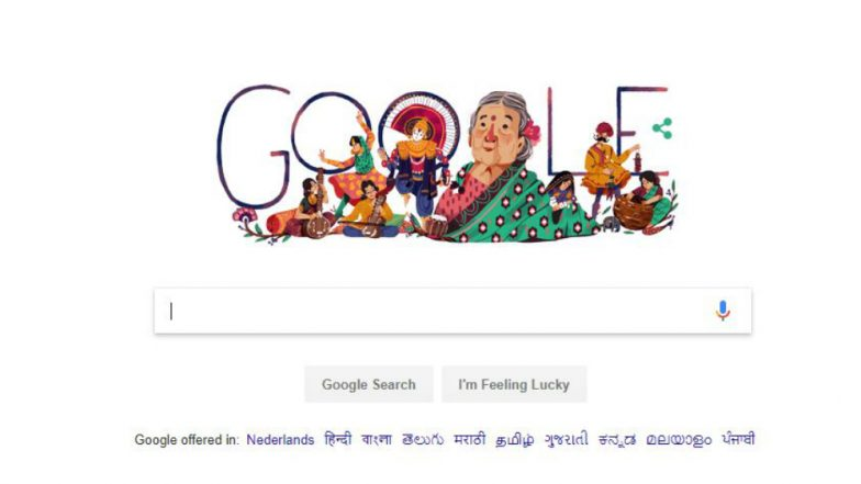 Google Doodle celebrates 115th birth anniversary of freedom fighter Kamaladevi Chattopadhyay