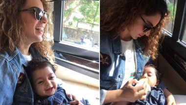 Kangana Ranaut Is Giving Us Major 'Maasi' Goals In These Pictures With Her Nephew Prithviraj