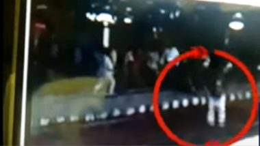 56-Year-Old Man Pushed in Front of Moving Local Train at Mumbai's Mulund Station: Watch CCTV Clip