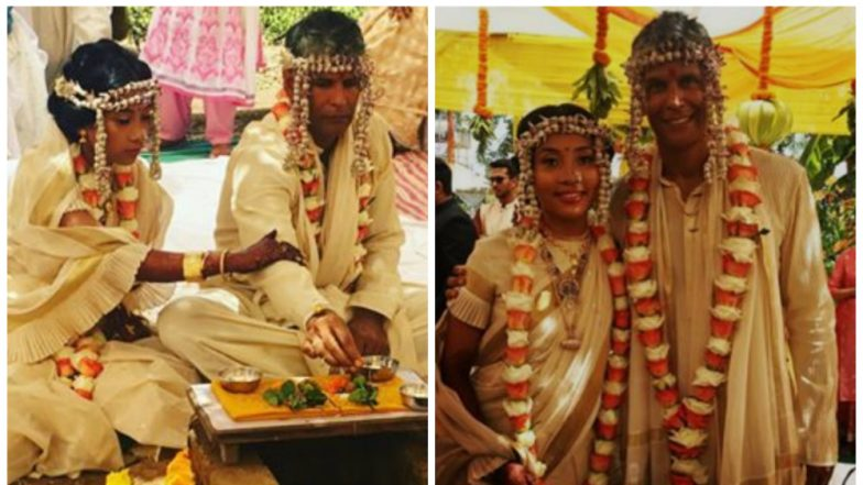 Milind Soman and Ankita Konwar get married in traditional style