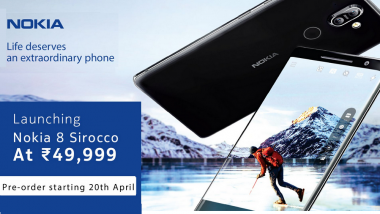 Nokia 7 Plus, Nokia 8 Sirocco Online Pre-order Opens Today at 12pm; Price, Features & Specifications
