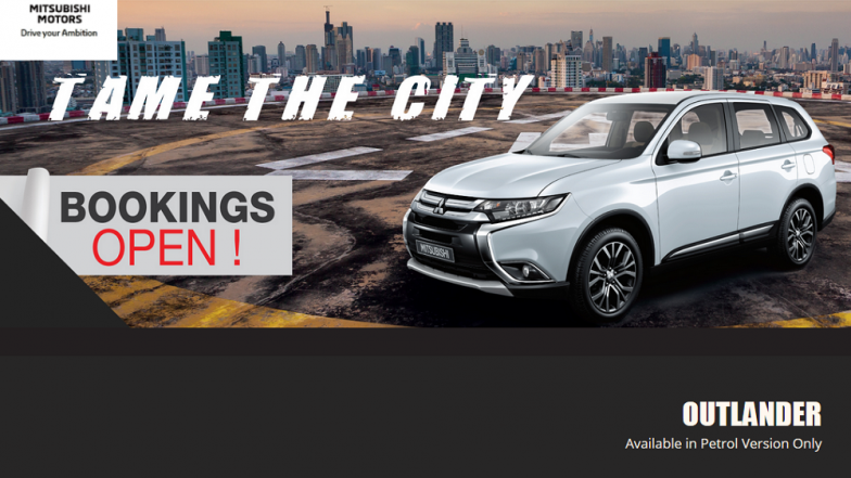 Mitsubishi Outlander Official Bookings Open in India; Features, Specifications & More