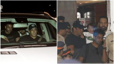 Salman Khan is Welcomed by Nephew Ahil as He Arrives in Mumbai - View Pics