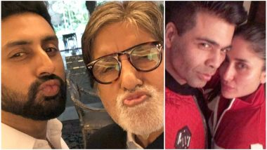 Amitabh and Abhishek Bachchan Give Karan Johar and Kareena Kapoor Khan Quite the Competition with Their Pouty Selfie