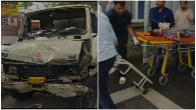 Student dead, 17 injured in city as their school van hits tanker
