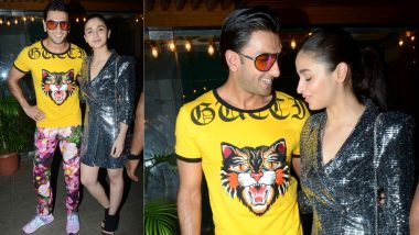 Ranveer Singh's Outfit for the Gully Boy's Wrap-up Party Is so Bad Even Alia Bhatt Can't Look at It - View Pics