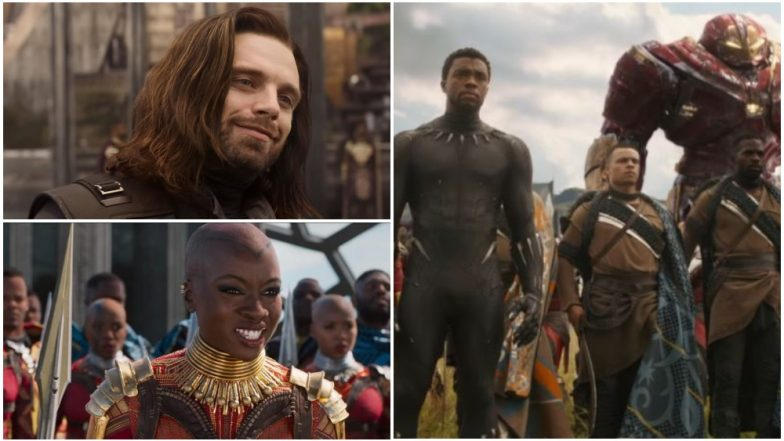 Avengers Infinity War TV Spot Captain America Reunites With Bucky Black Panther Leads Army into War and Okoye Craves for Starbucks