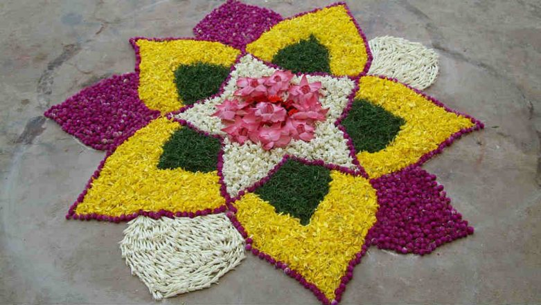 Vishu Rangoli Designs: Easy Patterns & Importance of Flowers in The Malayalee New Year Celebrations