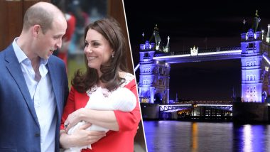 Royal Baby Makes London Bridge Among Other Landmarks Turn Blue: See Pictures