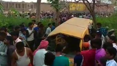 UPDATE: Kushinagar School Bus Accident Updates: 14 School Students Die, 7 Critically Injured in Accident with a Train at Unmanned Railway Crossing in UP