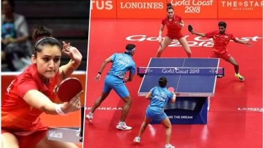Manika Batra-Sathiyan Gnanasekaran Beat Sharath Kamal-Mouma Das to Win Table Tennis Mixed Team Bronze Medal in CWG 2018