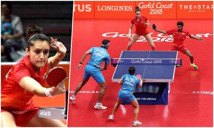 Manika Batra-Sathiyan Gnanasekaran Beat Sharath Kamal-Mouma Das to Win Table Tennis Mixed Team Bronze Medal in CWG 2018