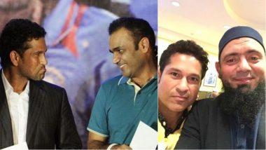 Virender Sehwag, Saina Nehwal, Saqlain Mushtaq and Other Sports Personalities Line up to Wish Sachin Tendulkar on his 45th Birthday