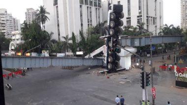 Mumbai Traffic Update: Vehicular Movement Diverted at SV Road After Girder-Crane Collapses Near MTNL Bridge