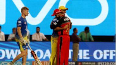 IPL 2018: Virat Kohli and MS Dhoni Exhibit Sportsmanship; hug Each Other During RCB vs CSK Match